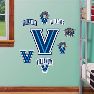 Villanova Wildcats - Team Logo Assortment Fathead Wall Decal